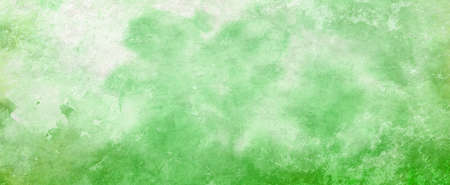 green watercolor background painted on paper texture, old green blotches and fringe bleed design from watercolor paint Stok Fotoğraf