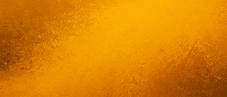 Orange background texture in bright yellow gold and orange lava color splash design, abstract hot fiery grunge in dramatic glowing center with brown corner borders