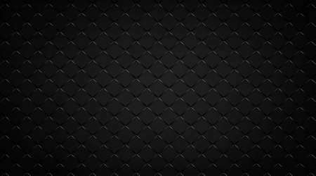 Abstract black background with diamond block grid pattern, elegant metal texture in dark techo design with lines and angles