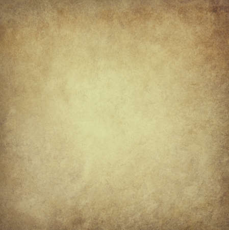 old brown parchment paper background with yellowed vintage grunge texture borders and light center with distressed faded antique colors Stok Fotoğraf