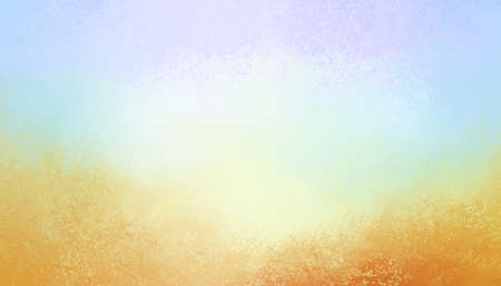 light blue background with grunge textured orange rust stain border in abstract vintage design