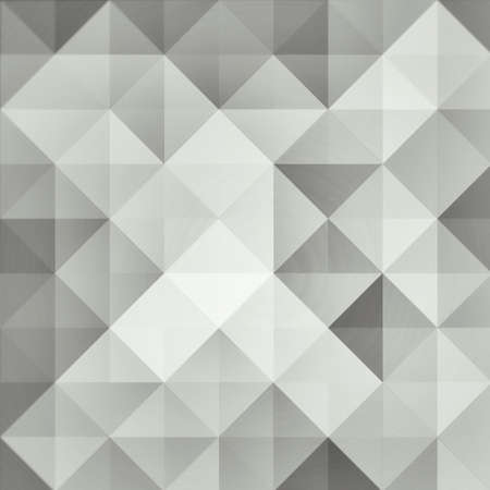 vintage style low poly triangle design background in elegant monochrome black white and silver gray colors, abstract background pattern