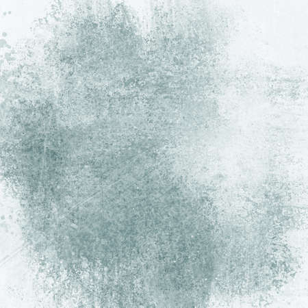 Faded white and gray background with grungy blue green color tone and old vintage style distressed border 免版税图像