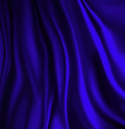 elegant luxury blue background with wavy draped folds of cloth, smooth silk texture with wrinkles and creases in flowing fabric Stok Fotoğraf
