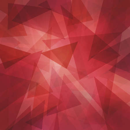 abstract modern red background with layers of floating transparent triangles