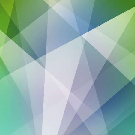 abstract blue green and white background, triangles and angled shapes layered line design element, faded texture design, geometric background, angled shapes background 免版税图像