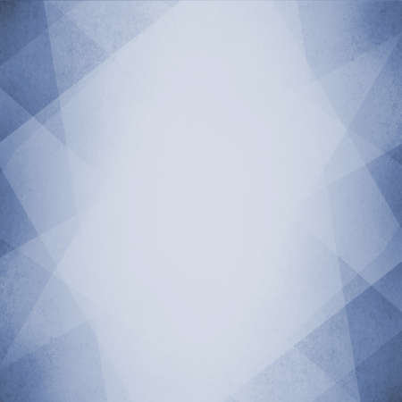 blue geometric background design with triangles angles lines in random pattern with white faded center