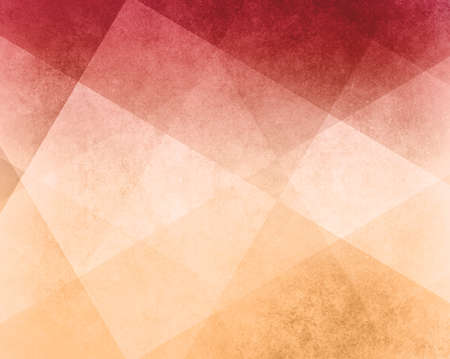 abstract red white and yellow background white striped pattern and blocks in diagonal lines with vintage pink texture
