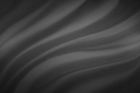 luxury soft black and gray background with elegant wavy draped folds of cloth, smooth silk texture with wrinkles and creases in flowing fabric