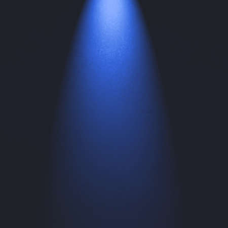 Spotlight background with blue light. Product display image.