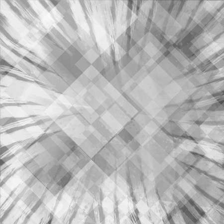 soft transparent black and white diamond and rectangle layers on radial striped starburst or sunburst background in double exposure design