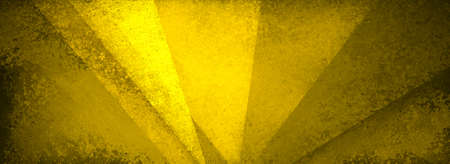 Abstract gold background with texture and yellow geometric triangle shapes layered in modern pattern with black grunge design, distressed gold background with angles 免版税图像