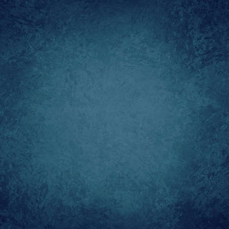 old blue background texture, grunge metal rust or vintage painted wall, dark grungy border and light blue center, distressed antique paper 免版税图像