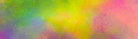Colorful background in green yellow pink and blue with grunge texture in abstract color design, bold bright and fun colors in textured painted layout