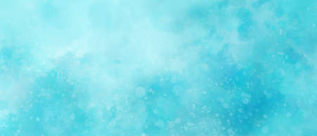 blue watercolor background texture with white abstract painted clouds in sky with bokeh lights or paint spatter in soft textured grunge design