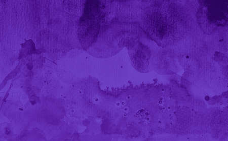 Dark purple watercolor background texture, old distressed fringe bleed or blotches of paint in textured design