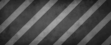 black and white background pattern with striped diagonal lines and texture in old vintage metal design