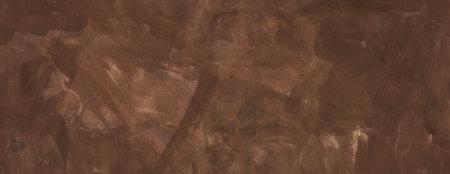 brown background texture, old dark brown grunge color in smeared finger paint textured design on artist canvas pattern 免版税图像