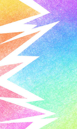 Creative abstract background in colorful rainbow colors of red blue green yellow orange purple and violet triangle shapes in decorative textured border design
