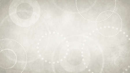 abstract off white background with grunge texture and white geometric circles and dots in old vintage paper design 免版税图像