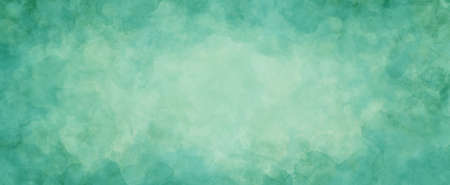 green background texture, watercolor stains and blotches on border, blue green paper in St. Patrick's day color