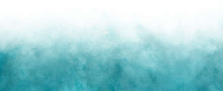 Blue green and white background with gradient ocean or sky color with white smoke or haze border grunge