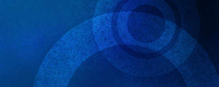 Blue background with abstract circles and grunge texture, blue color geometric pattern