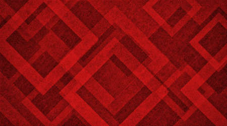 Abstract red background design with diamond or square shapes layered in geometric abstract pattern in transparent texture frames, modern art layout 免版税图像