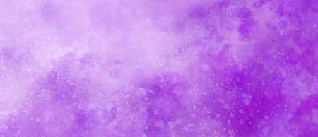 purple watercolor background texture with white abstract painted clouds in sky with bokeh lights or paint spatter in soft textured grunge design