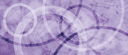 abstract purple background with old vintage grunge texture and modern circle design elements layered in white rings, pastel lavender color paper