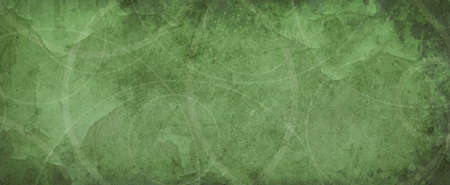 green background with white circle rings in faded distressed vintage grunge texture design, old geometric pattern paper 免版税图像