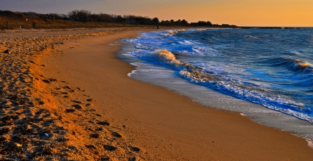Evening light on Sunset Beach, Cape May, New Jersey   photo