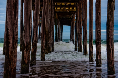 Under the pier, Ocean City, Maryland