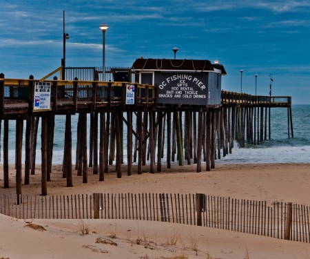 maryland: The fishing pier at Ocean City, Maryland  Editorial