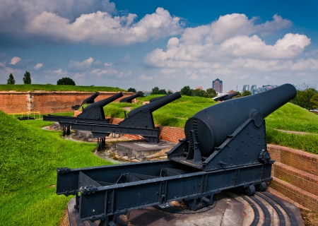 Cannon at Fort McHenry, Baltimore, Maryland