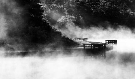 Morning fog on Spruce Knob Lake, Monongahela National Forest, West Virginia  Stock Photo - 19126621