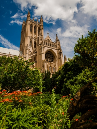 The Washington National Cathedral from the Bishop s Garden, Washington, DC