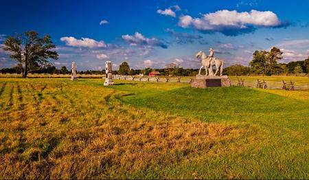 gettysburg battlefield: Evening light on the battlefields of Gettysburg, Pennsylvania
