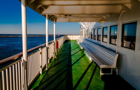Aboard the Cape May -Lewes Ferry, in the Delaware Bay between New Jersey and Delaware. photo