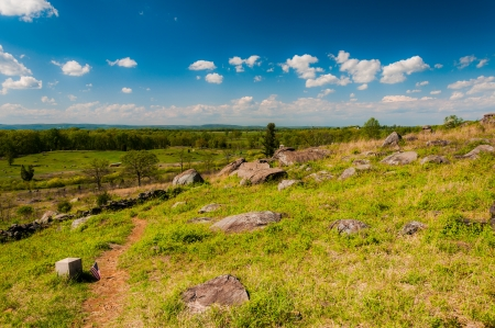 Spring view from Little Roundtop, Gettysburg, Pennsylvania. photo