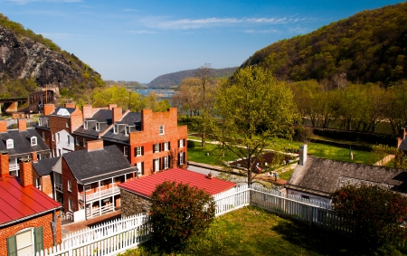 Spring view of Harpers Ferry, West Virginia.