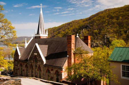 roman catholic: St. Peters Roman Catholic Church, Harpers Ferry, West Virginia. Stock Photo