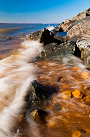 Waves on the Chesapeake Bay at Elk Neck State Park, Maryland photo