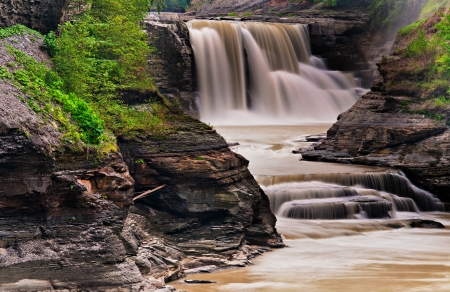 Lower Falls, at Letchworth State Park, New York