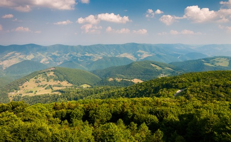 west virginia trees: View east of mountains and valleys from Spruce Knob, West Virginia Stock Photo