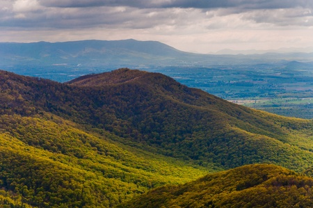 blackrock: Spring colors in the Appalachians, seen from Blackrock Summit in Shenandoah National Park, Virginia.