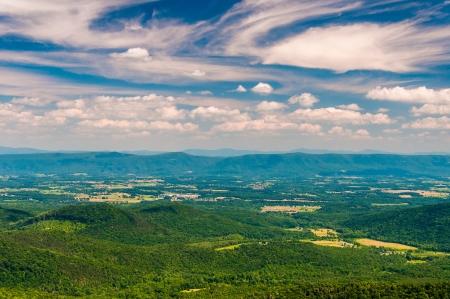 national forest: Opini�n de la tarde del Valle de Shenandoah de la Gran Monta�a del Norte, en el Parque Nacional George Washington, Virginia.