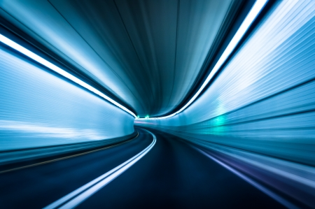 Long exposure taken in the Fort McHenry Tunnel, Baltimore, Maryland. Reklamní fotografie - 20759364
