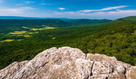 overlook: View from a cliff on Big Schloss, in George Washington National Forest, VA.