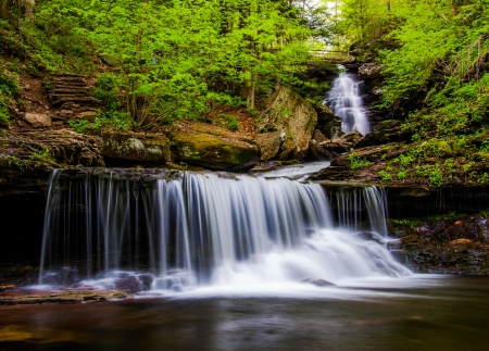 Ozone Falls on Kitchen Creek, in Glen Leigh, Ricketts Glen State Park, Pennsylvania. photo